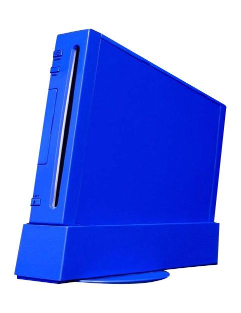 Gallery Blue Wii Console