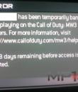 modern warfare 3 ban