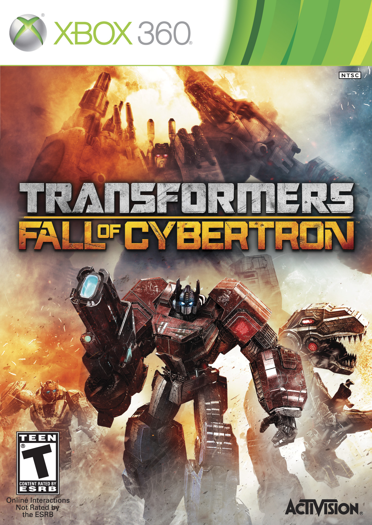 Transformers FOC_Xbox 360 box art
