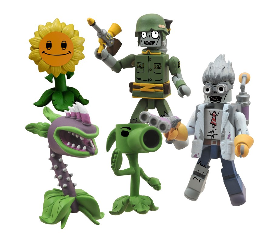 Dst Announces Plants Vs Zombies Minimate Series And