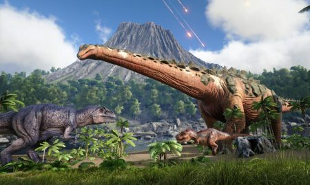 Play with the dinosaurs in Studio Wildcard's, ARK: Survival Evolved