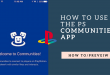 What Exactly is the PS Communities app?