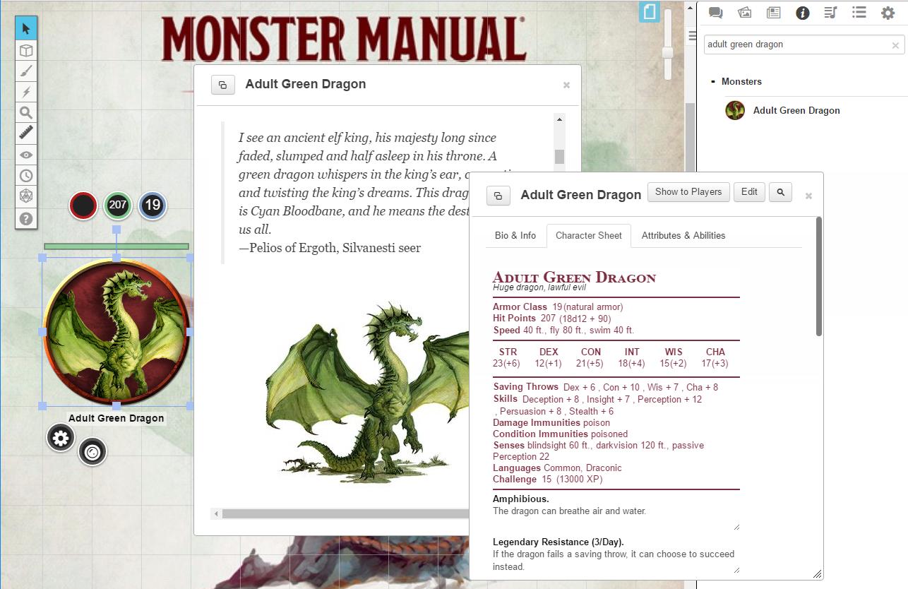 Roll20 D&D Monster Manual (Tabletop) Review | Brutal Gamer