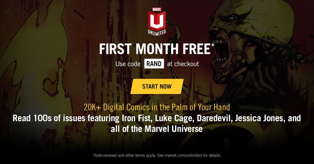 MARVEL UNLIMITED: First Month Free.   Brutal Gamer