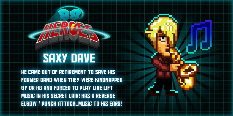 Image result for 88 heroes saxy dave