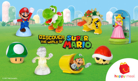 Super Mario Toys are now Available in Happy Meals