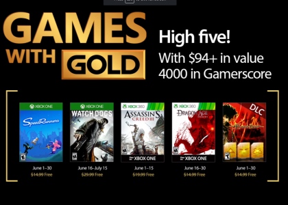 June Games with Gold Xbox One Xbox 360 Microsofttt