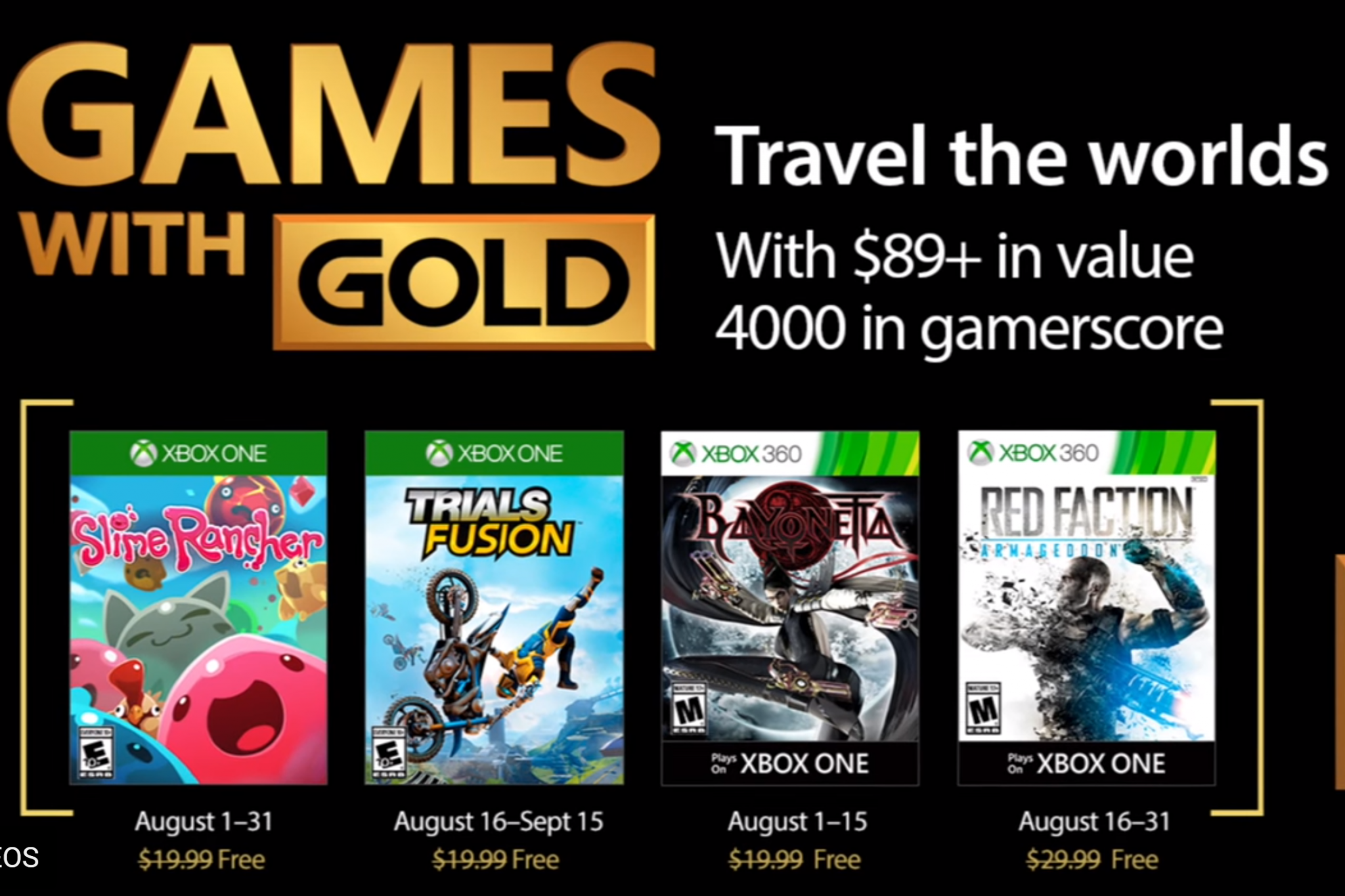 Xbox 360 Games For Xbox 1 : Xbox games with gold for august slime rancher trials