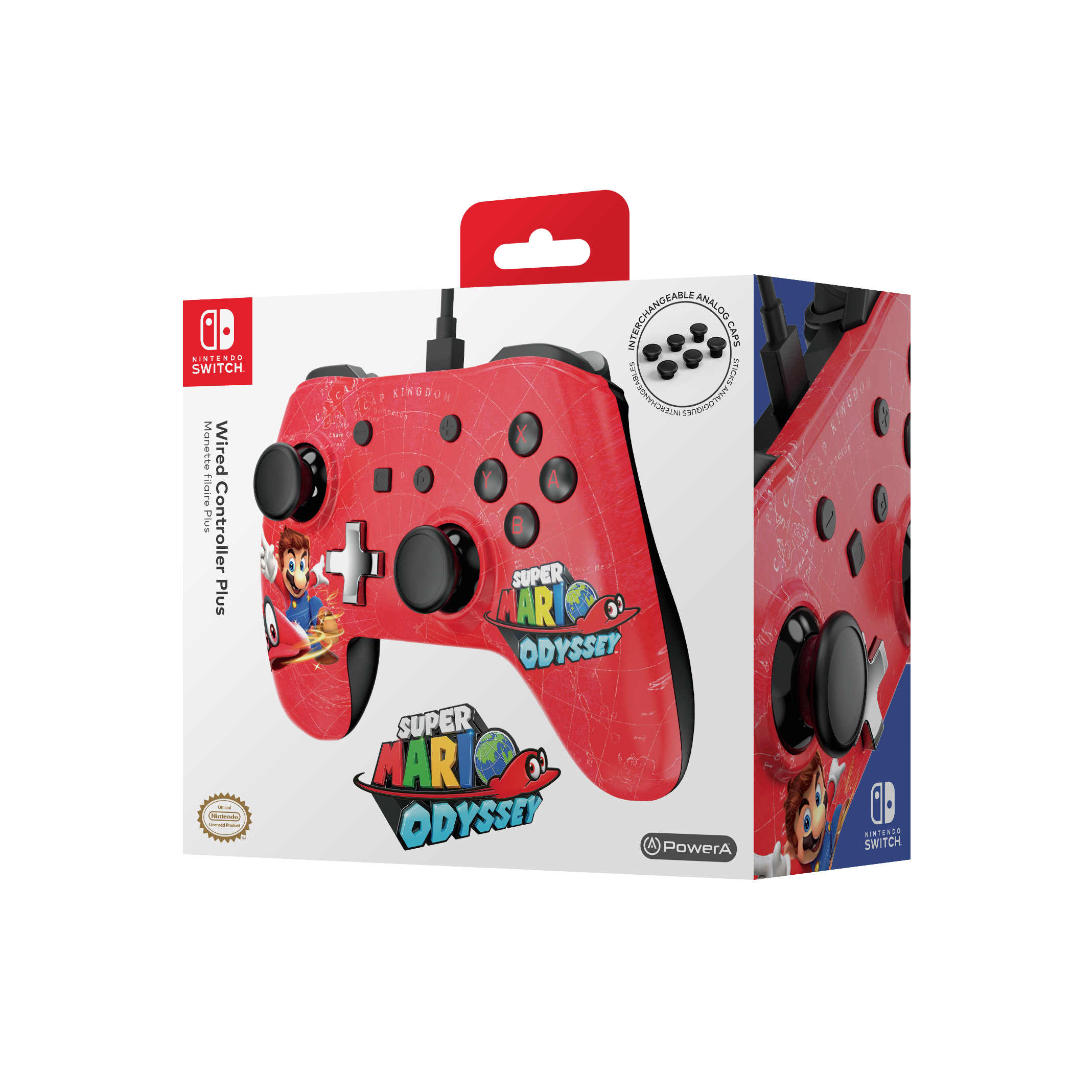Nintendo Switch Wired Controller PLUS - Super Mario Odyssey