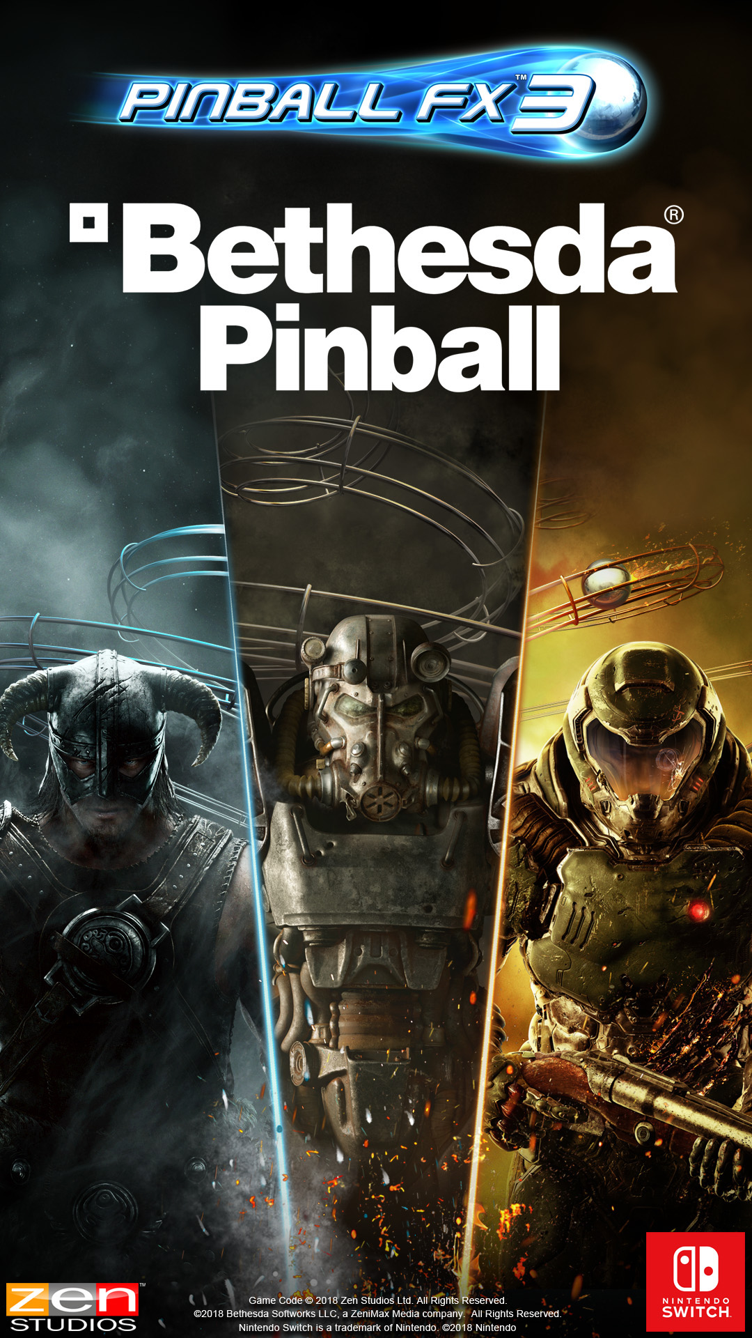 Bethesda tables hit for Pinball FX 3 on the Switch today