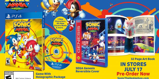 Sega's Sonic Mania Plus racing to retail this July