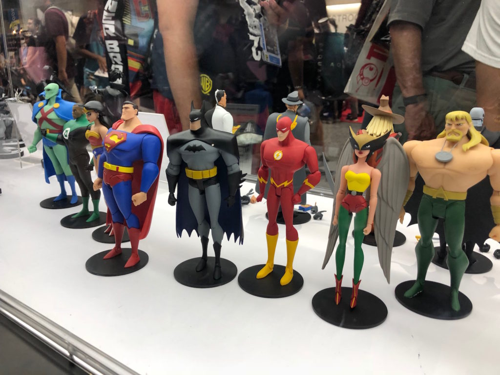 sdcc 2018 dc collectibles showcases animated and essentials figures