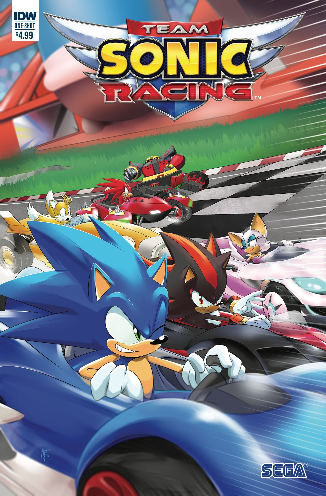 sdcc 2018 team sonic racing comic coming this year from idw