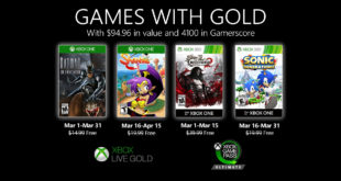 March Games with Gold 2020