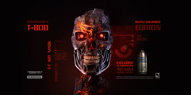 "PureArts stunning, ""battle damaged"" Terminator endo-skull is ready for pre-order"