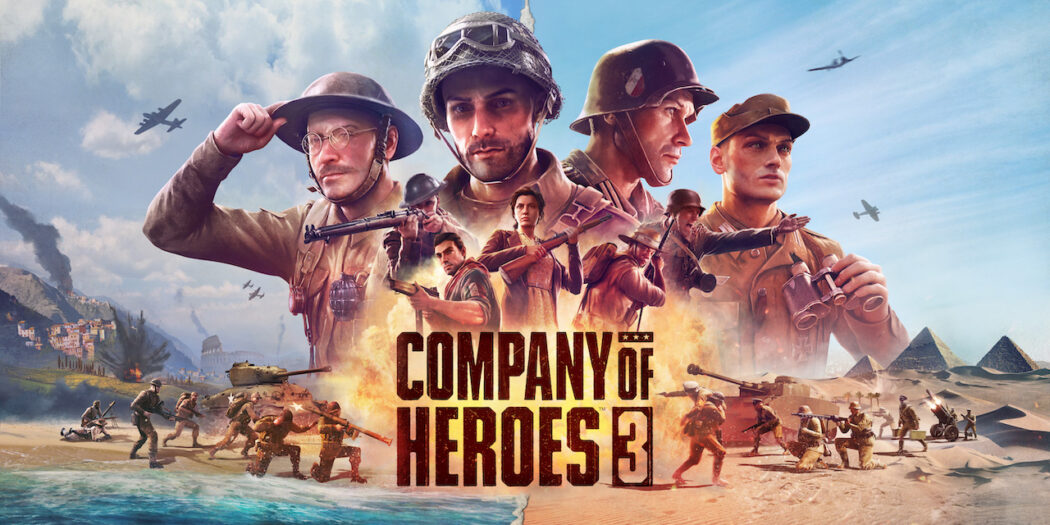 Soldier's saluting on top of a logo that reads Company of Heroes 3