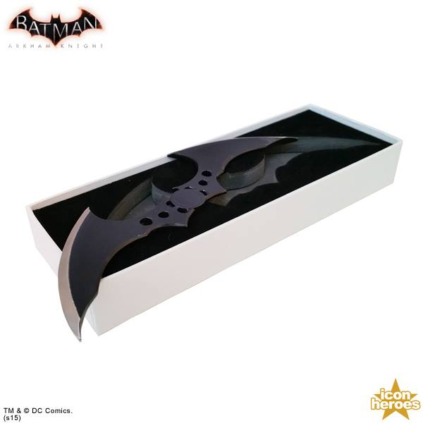 presenting the coolest letter opener youll ever see icon heroes arkham knight batarang