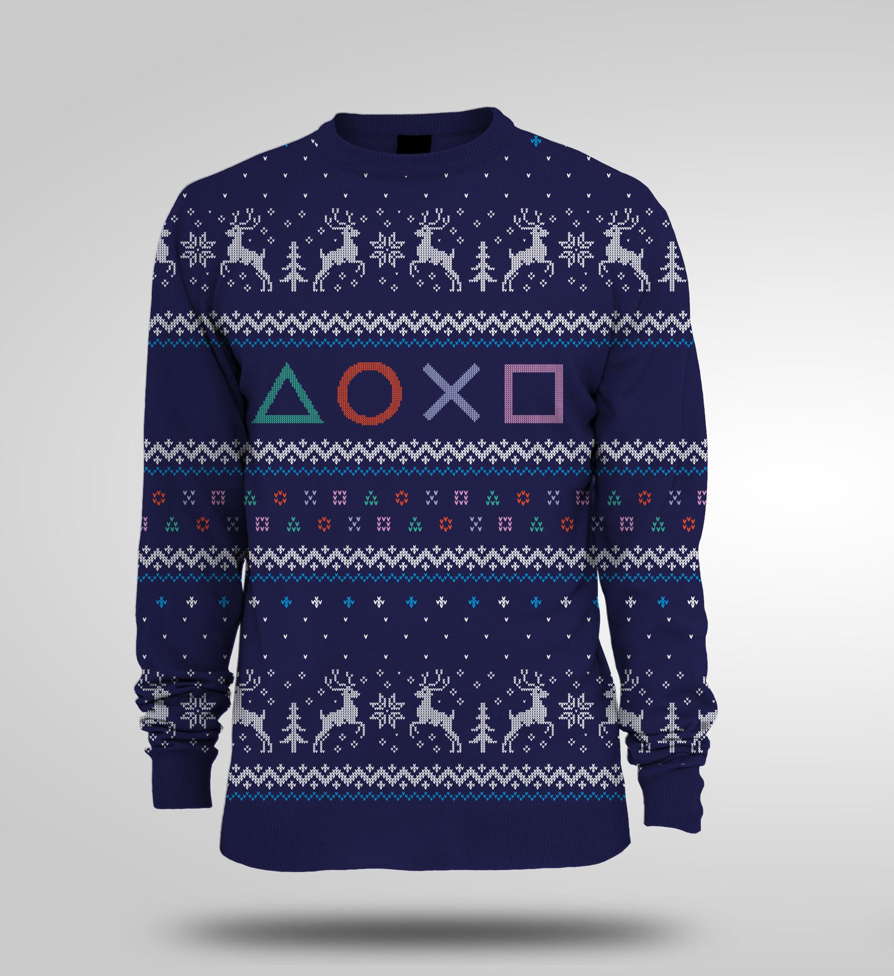 Gaming Kersttrui.Playstation Symbols Brutal Gamer