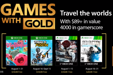 August Games with Gold Xbox One Xbox 360