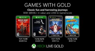 November Games with Gold 2019