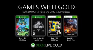December Games with Gold 2019