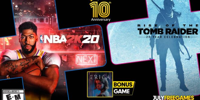 Celebrate 10 years of PS+ with Tomb Raider, NBA 2K20, and Erica