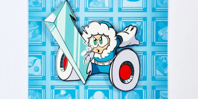 Ice Man is the next Robot Master in Udon's pin series