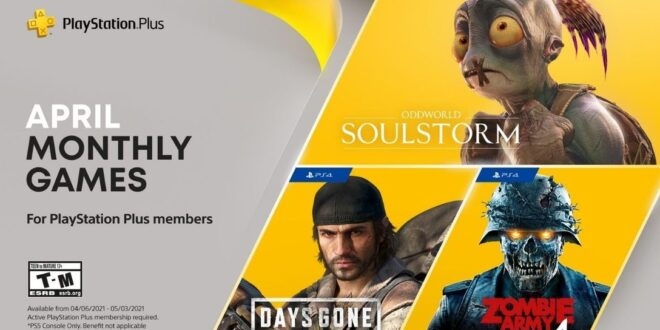 PS+ has a big month in April with Days Gone, Oddworld, and Zombie Army 4